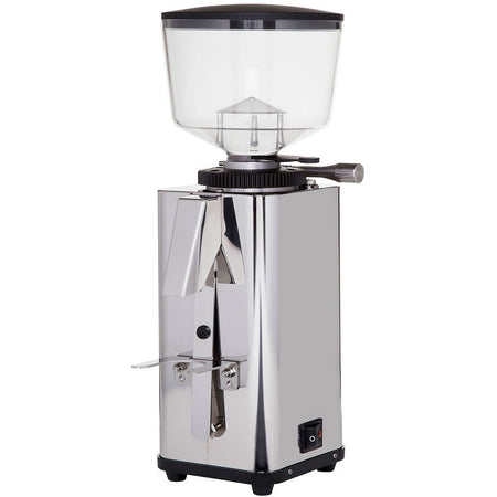 ECM S-Manuale 64 Espresso Grinder – Stepless, Doserless, 64 mm Burrs - left angled view - at Total Espresso