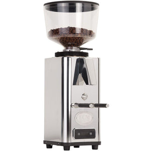 ECM S-Automatik 64 Espresso Grinder – Stepless, Doserless, 64 mm Burrs - polished steel - at Total Espresso