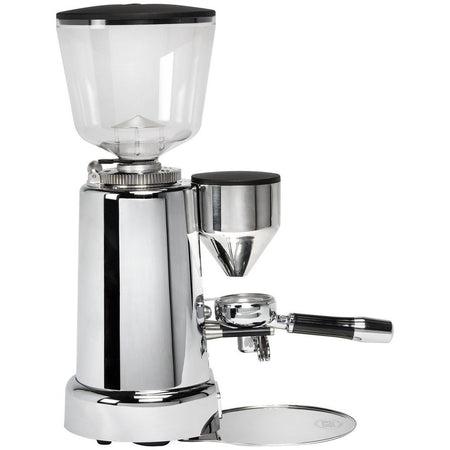 ECM V-Titan 64 Espresso Grinder – Stepless, Doserless, 64mm Burrs - right side view - at Total Espresso