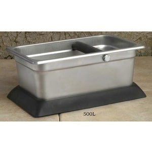 Rectangular Stainless Steel Knock Box - 500L - at Total Espresso