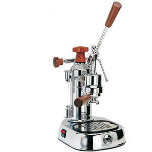 La Pavoni Europiccola, Chrome with Wood Accents 8 cup (EPW-8) Lever Espresso Machine - at Total Espresso