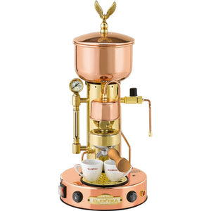 Elektra ART Microcasa Semiautomatica Espresso Machine - Copper and Brass finish - at Total Espresso