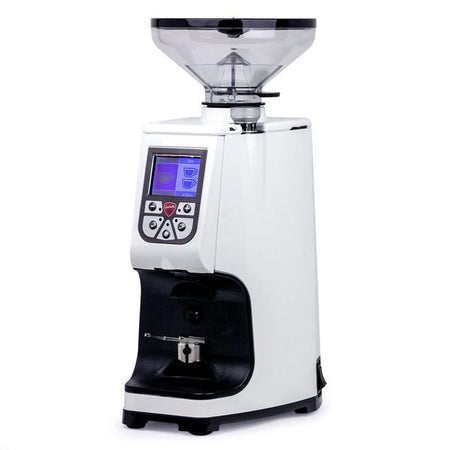 Eureka Atom Specialty 75 – Flat Burr, Stepless, Doserless Espresso Grinder - white - at Total Espresso