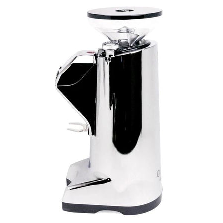 Eureka Olympus KR E Commercial Espresso Grinder – Chrome side view - at Total Espresso