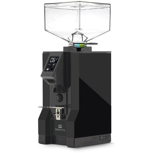Eureka Mignon Perfetto Stepless Doserless Coffee Grinder - Black body with black chute - at Total Espresso