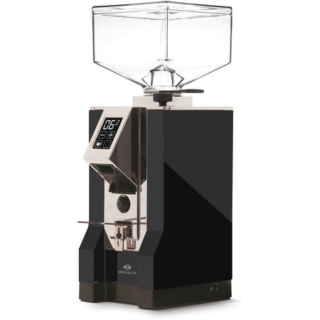 Eureka Mignon Specialita Stepless Doserless Coffee Grinder - Black body with chrome chute - at Total Espresso