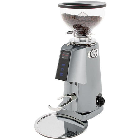 Fiorenzato F4E Nano V2 Electronic Espresso Grinder - shown in grey - at Total Espresso