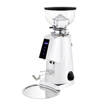 Fiorenzato F4E Nano V2 Electronic Espresso Grinder - shown in white - at Total Espresso