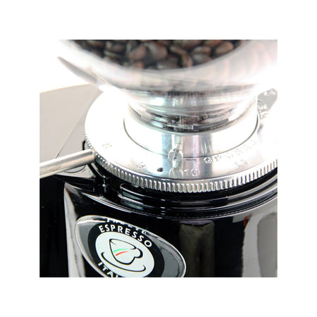 Fiorenzato F4E Nano V2 Electronic Espresso Grinder - stepless grind adjustment detail - at Total Espresso