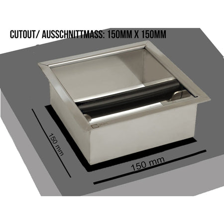 Knock Box - Countertop Chute - at Total Espresso