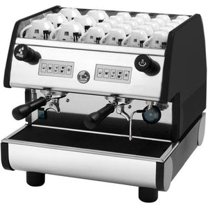 La Pavoni PUB Commercial Espresso Machine -Two Group Volumetric - Black - at Total Espresso