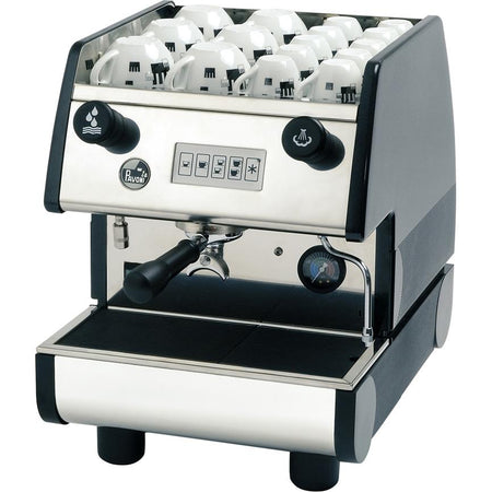 La Pavoni PUB Commercial Espresso Machine - Volumetric Single Group Black - at Total Espresso