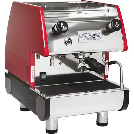 La Pavoni PUB Commercial Espresso Machine - Volumetric Single Group Red - at Total Espresso