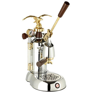 La Pavoni Professional Expo (EXP-16), Chrome/Gold - at Total Espresso