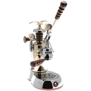 "La Pavoni Esperto Epresso Machine - ""Competente"" brass tank, chrome base - at Total Espresso"