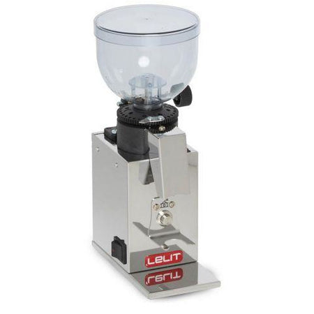 Lelit Fred Stepless Doserless Espresso Coffee Grinder - PL043MMI - corner view - at Total Espresso