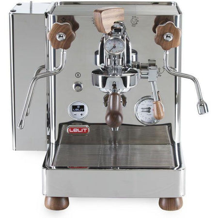 Lelit Bianca - Dual Boiler, PID, Switchable, Manual Pressure Profiling - Front view with water tank on left side - at Total Espresso
