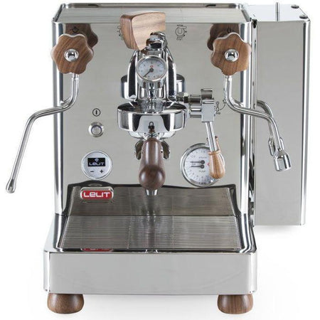 Lelit Bianca - Dual Boiler, PID, Switchable, Manual Pressure Profiling - Front view with water tank on right side - at Total Espresso