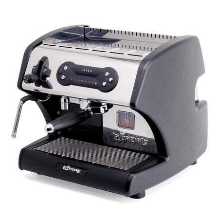 LUCCA A53 Mini – Double Boiler, Tank, Vibration Pump Espresso Machine - with black side panels - at Total Espresso
