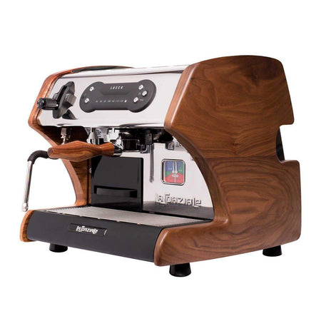 LUCCA A53 Mini – Double Boiler, Tank, Vibration Pump Espresso Machine - walnut side panels - at Total Espresso