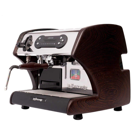 LUCCA A53 Mini – Double Boiler, Tank, Vibration Pump Espresso Machine - wenge side panels - at Total Espresso