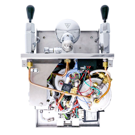 LUCCA M58 V2, Double Boiler, Switchable, PID Espresso Machine - internals top view - at Total Espresso