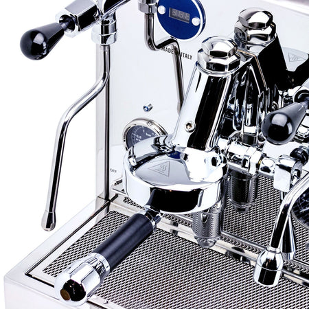 LUCCA M58 V2, Double Boiler, Switchable, PID Espresso Machine - group head detail - at Total Espresso