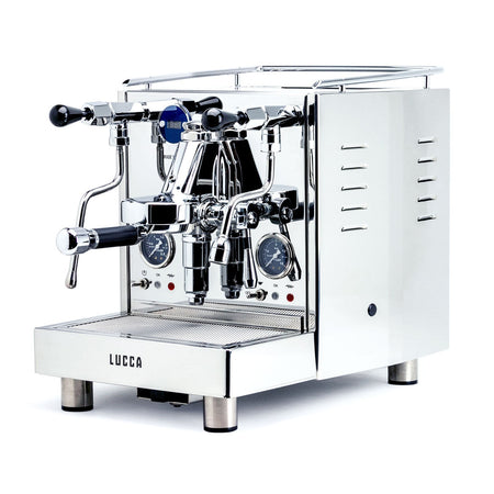 LUCCA M58 V2, Double Boiler, Switchable, PID Espresso Machine - Stainless Steel - at Total Espresso