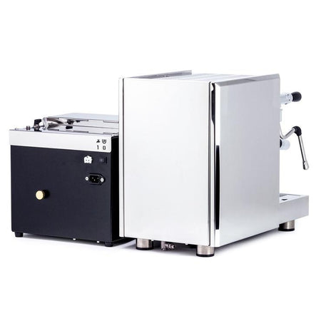 LUCCA S58 Dual Boiler, Switchable, PID Espresso Machine - complete rear view - at Total Espresso