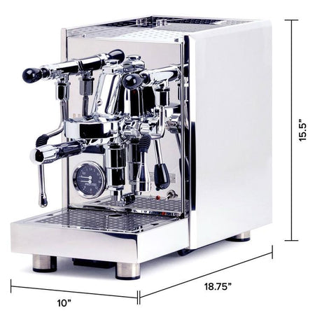 LUCCA S58 Dual Boiler, Switchable, PID Espresso Machine - machine dimensions  - at Total Espresso