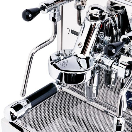 LUCCA X58 Espresso Machine - E61 group head detail - at Total Espresso