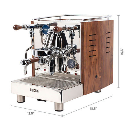 LUCCA M58 V2, Double Boiler, Switchable, PID Espresso Machine - dimensions - at Total Espresso