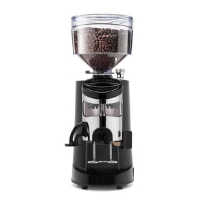 Nuova Simonelli MDXS Commercial Coffee Grinder - doser front view - at Total Espresso