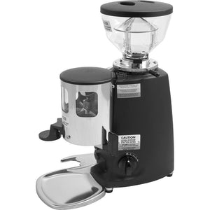 Mazzer Mini Espresso Grinder –Stepless, Doser, 58 mm Flat Burr - Black  - at Total Espresso