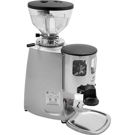Mazzer Mini Espresso Grinder –Stepless, Doser, 58 mm Flat Burr - Silver - at Total Espresso