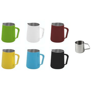 STEAMING AND FROTHING MILK PITCHER-2 Sizes, 6 Colors - at Total Espresso