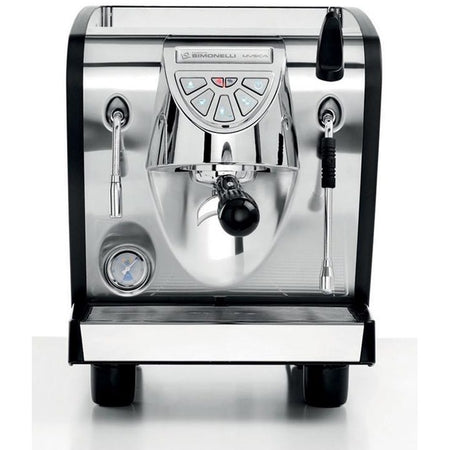 Nuova Simonelli Musica - Black front view - at Total Espresso