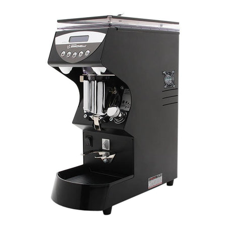 Nuova Simonelli Mythos Commercial Grinder - Clima Pro black side view - at Total Espresso