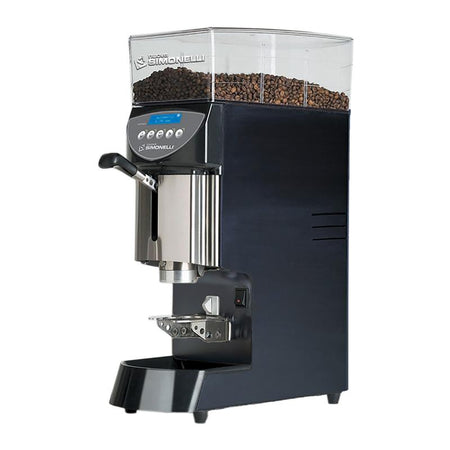 Nuova Simonelli Mythos Commercial Grinder - Plus black side view - at Total Espresso