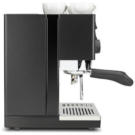 Rancilio Silvia Home Espresso Machine BLACK Limited Edition 2018 - side view- at Total Espresso
