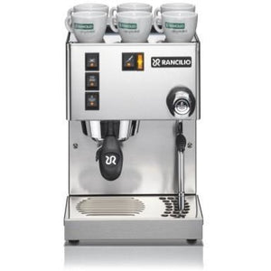 Rancilio Silvia Home Espresso Machine - front view - at Total Espresso