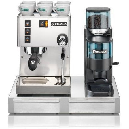 Rancilio Silvia and Rocky Combination Package - doser - at Total Espresso