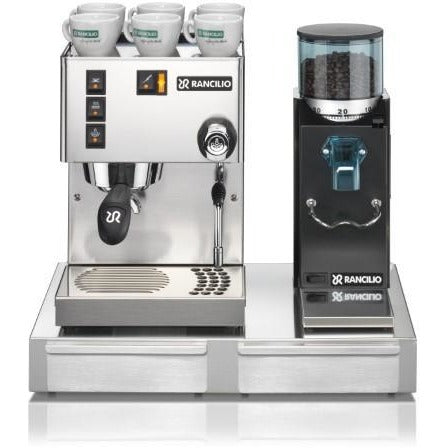 Rancilio Silvia and Rocky Combination Package - doserless - at Total Espresso