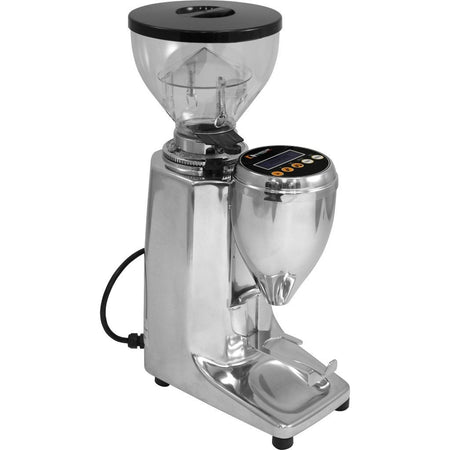 Quamar M80E Flat Burr, Stepped, Doserless, electronic Espresso Grinder - at Total Espresso