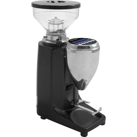 Quamar M80E Flat Burr, Stepped, Doserless, electronic Espresso Grinder - Black - at Total Espresso
