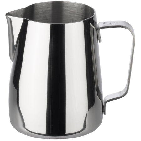 Stainless Steel Steaming and Frothing Milk Pitcher -12 ounces - at Total Espresso