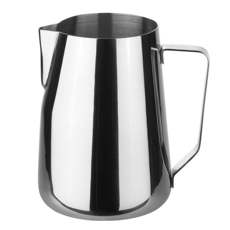 Stainless Steel Steaming and Frothing Milk Pitcher - 48 ounces - at Total Espresso