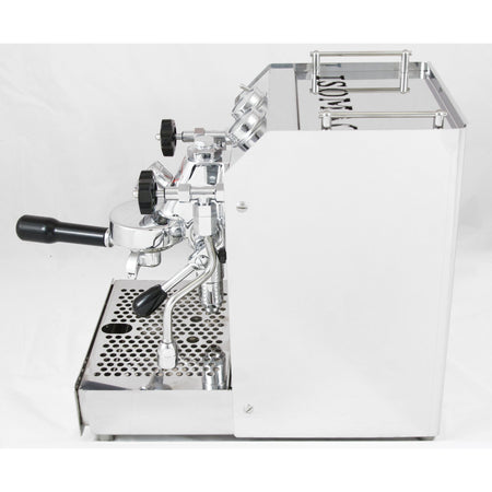 Isomac TEA Semi-Commercial Machine - side view - at Total Espresso