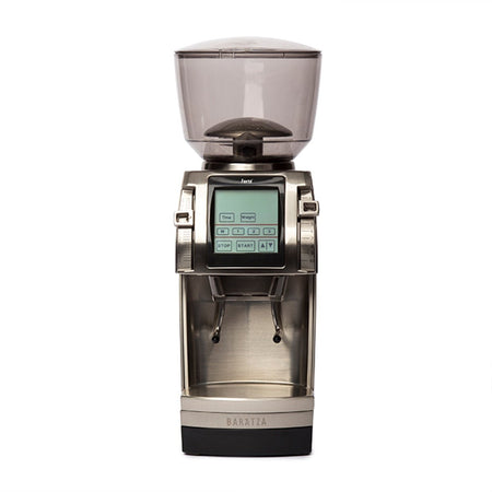 Baratza Forté-AP Coffee Grinder – Stepped, Doserless, 54 mm Flat Burrs - front view - at Total Espresso