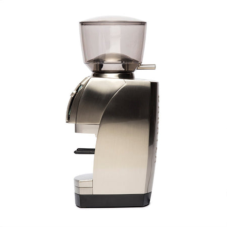 Baratza Forté-AP Coffee Grinder – Stepped, Doserless, 54 mm Flat Burrs - side view - at Total Espresso